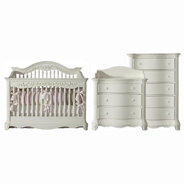 Savannah Baby Furnture Collection - French White - 3 pc.