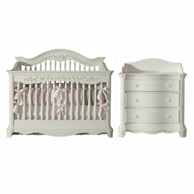 Savannah Baby Furntiure Collection - French White - 2 pc.