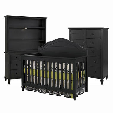 Berkley Baby Furniture Collection - Antique Black - 5 pc.