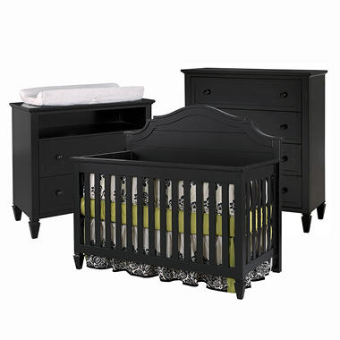 Berkley Baby Furniture Collection - Antique Black - 3 pc.
