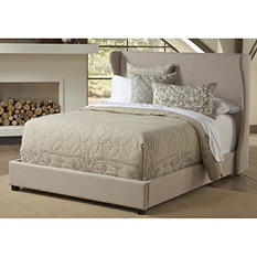 Kellan Winged Upholstered Bed, Queen