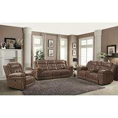 Daytona Reclining Sofa, Loveseat and Chair Set