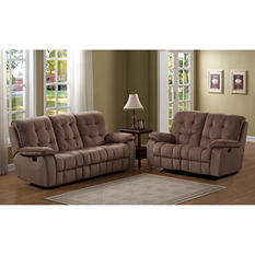 Mcaul Reclining Sofa and Glider Loveseat, 2-Piece Set