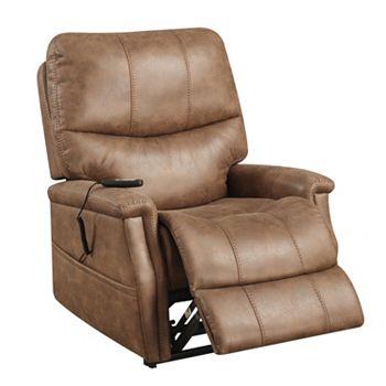 Pulaski Karmen Dual Motor Upholstered Lift Chair (Warm Brown)