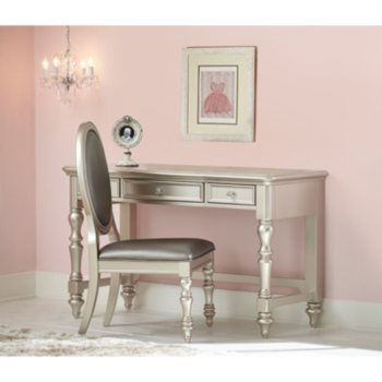 Shimmer Desk and Chair Set