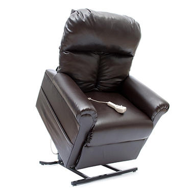 Mega Motion Easy Comfort LC-100 Infinite Position Power Recline and Lift Chair - Chestnut Vinyl