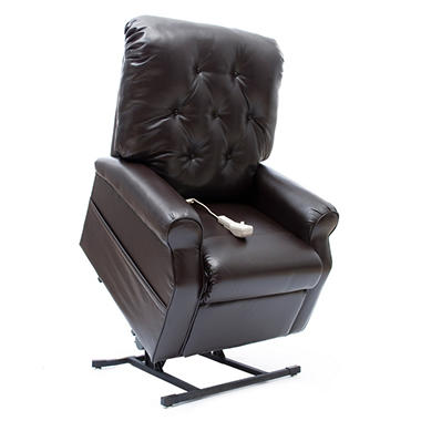 Mega Motion Easy Comfort LC-200 Power Recline and Lift Chair - Chestnut Vinyl