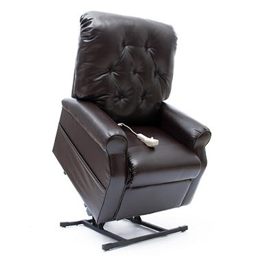 Mega Motion Easy Comfort LC-300 Power Recline and Lift Chair - Chestnut Vinyl