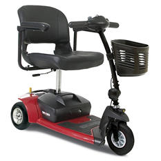 Red Pride Mobility Go Go Ultra X 3 Wheel Travel Scooter with Bonus Features Includes Rear Basket, Cup Holder and Weather Cover