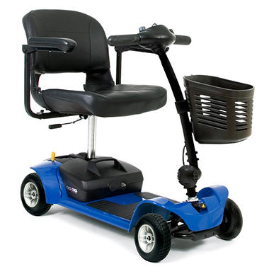 Blue Pride Mobility Go Go Ultra X 4 Wheel Travel Scooter with Bonus Features Includes Rear Basket, Cup Holder and Weather Cover