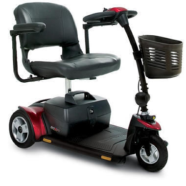 Pride Go-Go Elite Traveler Plus HD 3 Wheel Mobility Scooter