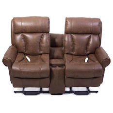 Mega Motion AS9002 Powerlift Love Seat Combo, Palance Tobacco