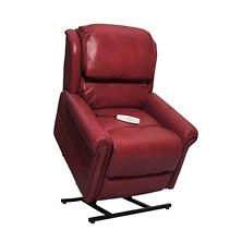 Grey 3-Position Power Recline & Lift Chair, Red