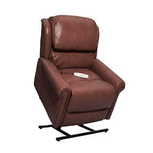 Grey 3-Position Power Recline & Lift, Pecan