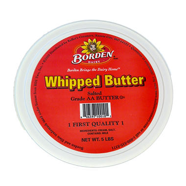 Borden Whipped Butter - 1 lb. tub - 5 ct.