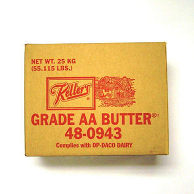 Keller's Unsalted Bulk Butter 1/55.115 lb.
