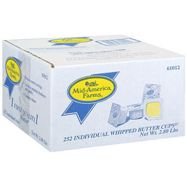 Mid-America Farms® Whipped Butter Cups - 252ct.