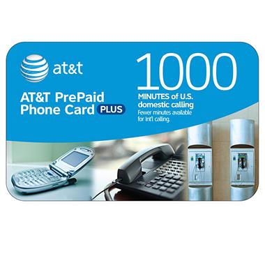 AT&T PrePaid Phone Card - 1,000 min.