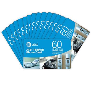 AT&T PrePaid Phone Card - 60 min. - 15 pk.
