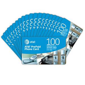 AT&T PrePaid Phone Card - 100 min. - 20 pk.