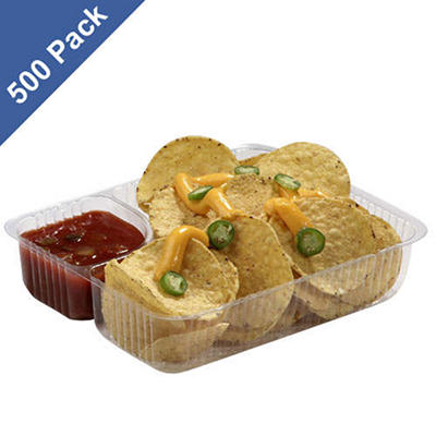 "Gold Medal Heavy-Duty Plastic Nacho Trays, 5"" x 6"" (500 ct.)"