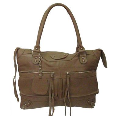 Sasha Tube Handle Tote Bag - Camel