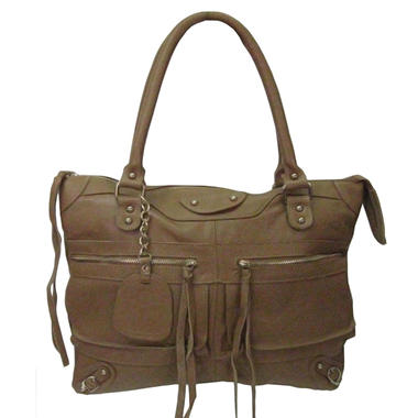 Sasha Tube Handle Tote Bag - Camel