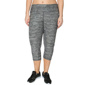 RBX Women's Plus Size Striated Active Capri