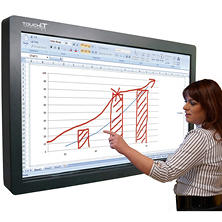 "TouchIT 70"" LCD Duo Pro Interactive with Integrated PC"