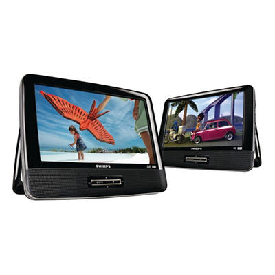"Philips 9"" Portable Dual DVD Player"