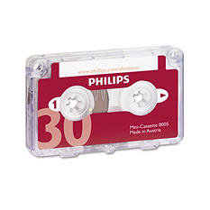 Philips - Audio and Dictation Mini Cassette, 30 Min. (15 x2) - 10 Pack