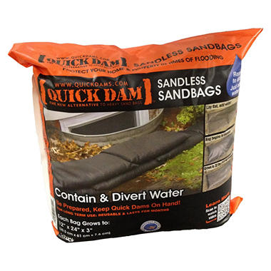 Quick Dam Sandless Sandbags - 6 pack