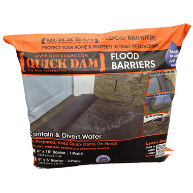 Quick Dam 5' Flood Barriers - 2 Pack
