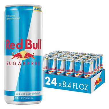 Red Bull Sugar Free Energy Drink,8.4 oz. (24 pk.)