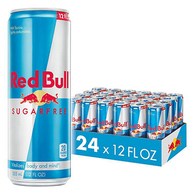 Red Bull Sugar Free Energy Drink - 12 oz. cans - 24 pk.
