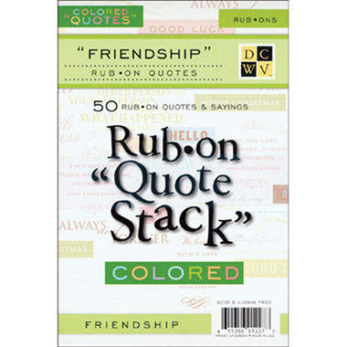 "Rub-On Quotes 4.5""X6.75"" 10 Sheets/Pad - Friendshi"