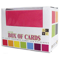 "Box Of Cards With Envelopes A2 4.25""X5.5"" - Solid"