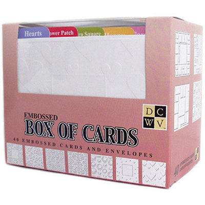 "Box Of Cards With Envelopes A2 4.25""X5.5"" - Emboss"