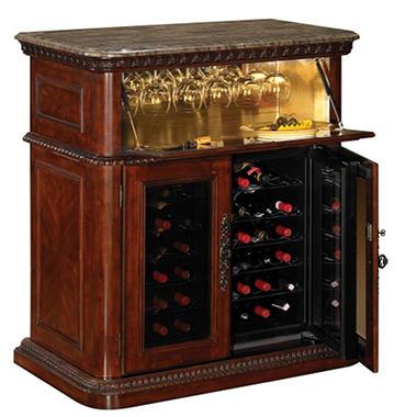 36 Bottle Vintage Cherry Wine Cabinet