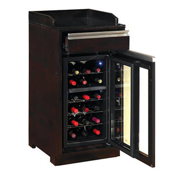 18 Bottle Espresso Wine Cabinet