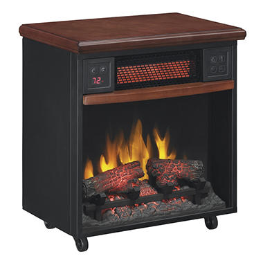 Infrared Fireplace with Casters