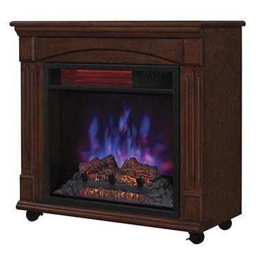 Twin Star Powerheat Infrared Rolling Mantel Quartz Fireplace Sam 39 S Club