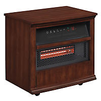 Twin Star International Portable Infragen™ Smart Heater with Safer Plug and Safer Sensor, Walnut Brown