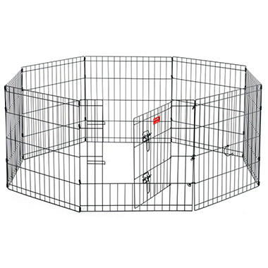 "Lucky Dog 24"" H Dog Exercise Pen with Stakes"