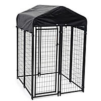 Lucky Dog 6'H x 4'W x 4'L Uptown Welded Wire Kennel w/Cover and Frame (height with cover installed)