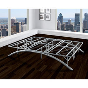 Arch Silver Decorative Metal Platform Bed