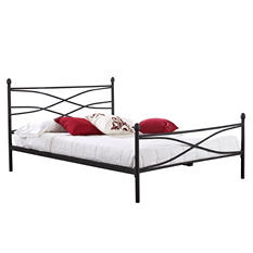 Helena Black Decorative Metal Platform Slat Bed