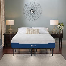 "Lane Sleep Lux 11"" Firm Memory Foam Mattress with Metal Platform Bed Frame Set, Queen"
