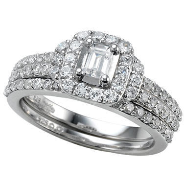 1.00 ct. t.w. Emerald Cut Diamond Engagement Ring Set in 14k White Gold (I, I1)