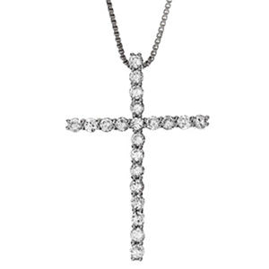 0.50 ct. t.w. Diamond Cross Pendant I,I1 (IGI Appraisal Value: $795)